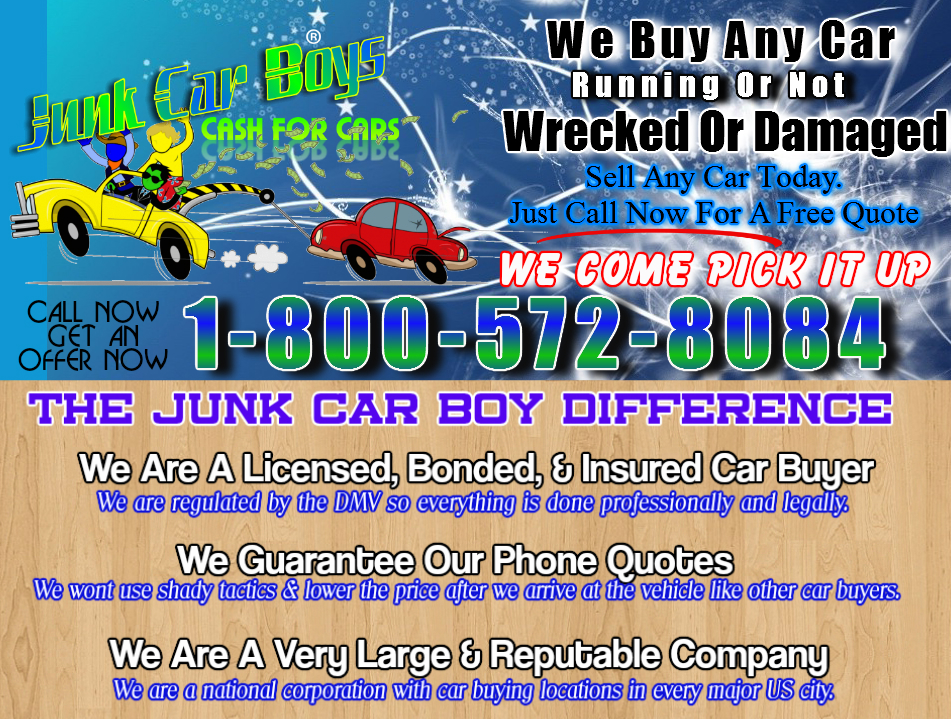 Cash For Cars Washington DC - We Buy Junk Vehicles Same Day